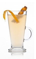 The Gin Tincture Toddy is a warm drink made from Caorunn gin, heather honey, lemon juice and tincture, and served warm in a toddy glass.