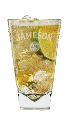 The Ginger Lime Jameson is a refreshing Irish drink perfect for Saint Patrick's Day parties. Made from Jameson Irish whiskey, ginger ale and lime, and served over ice in a highball glass.