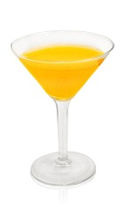 The Ginger Street is an orange cocktail made from Patron tequila, ginger liqueur, lemon juice, lime juice, simple syrup and orange bitters, and served in a chilled cocktail glass.