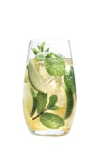 The Grand Mojito is a variation of the classic Mojito cocktail, using Grand Marnier instead of rum. A clear cocktail made from Grand Marnier orange liqueur, club soda, lime and mint, and served over ice in a highball glass.