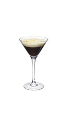 The Grand Orange Coffee is a wonderful black Christmas drink made from Grand Marnier, espresso and whipped cream, and served in a warm cocktail glass.
