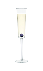 The Grape Champagne is a clear drink perfect for New Year's Eve, made from Smirnoff grape vodka, chilled champagne and served in a chilled champagne flute.