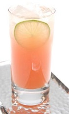 Brazil is the world's largest producer of guava (goiaba in the local lingo), and can be found in the backyards of most houses. The Guava Fresh is a peach colored drink recipe that combines guava juice with Leblon Cachaca (Brazilian rum), lime juice and simple syrup, and served over ice in a highball glass.