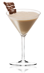 The Hazel Amarula is a brown colored cocktail made from Amarula cream liqueur, light cream and hazelnut liqueur, and served in a chilled cocktail glass.