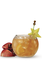 The Holiday Rum Punch drink recipe is a great way to start a Christmas party. Made from Cruzan 9 Spiced rum, orange juice, orange soda, pomegranate juice and club soda, and served from a large pitcher or punch bowl. Recipe serves 8-10.