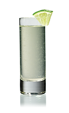 The Hot and Sour shot is made from Stoli Hot jalapeno vodka and Rose's Lime juice, and served in a chilled shot glass.