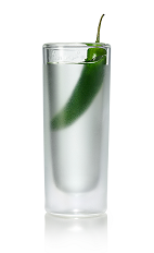 The Hot and Sticki Shot is made from Stoli Sticki honey vodka and Stoli Hot jalapeno vodka, and served in a chilled shot glass.