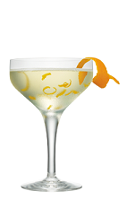 The Iced Orange Cake is a clear colored cocktail made from Smirnoff Iced Cake vodka, lemon juice, simple syrup and orange marmalade, and served in a chilled cocktail glass.