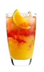 The Indian Runner is an orange colored drink recipe made from 42 Below Passion vodka, anisette, cranberry juice, mango juice and orange, and served over ice in a highball glass.