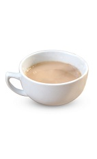 the Irish Peppermint Tea drink is made from Bailey's Irish cream and peppermint tea, and served in a warm coffee mug or glass.
