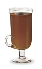 The Italian Alps is a brown cocktail made form amaretto liqueur and hot chocolate, and served in an Irish coffee glass.