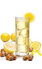 The Italian Lemonade is a refreshing summer drink perfect for any sunset or beach trip. A yellow drink made from Frangelico hazelnut liqueur, SKYY ginger vodka and lemonade, and served over ice in a collins or highball glass.