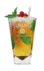 If Ireland ever had a Kentucky Derby, this could be the official cocktail. The Jameson Julep is an orange drink made from Jameson Irish whiskey, simple syrup, Lillet Rouge vermouth, mint and club soda, and served over ice in a highball glass.