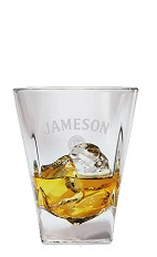 One of the best ways to enjoy a classic Saint Patrick's Day drink is with a good quality Irish whiskey. The Jameson on the Rocks is an orange colored drink made from Jameson Irish whiskey, and served over ice in a rocks glass.