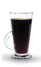 The Kaffe Ploro is a Finnish version of the perfect black dessert drink. Made from Finlandia vodka, hot coffee and sugar to taste, and served in a coffee glass.