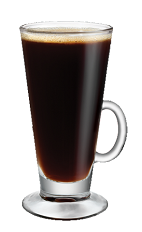 The Kahlua Hot Coffee drink is made from a well-balanced mix of Kahlua coffee liqueur and hot coffee, and served in your favorite coffee glass.