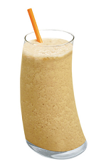 The Kahlua Mudslide is a famous dessert drink made from Kahlua coffee liqueur, Bailey's Irish cream, butterscotch schnapps and milk, and served blended with ice in a chilled highball glass.