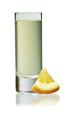 The Karamel Shake Shot is made from Stoli Salted Karamel vodka and Stoli Vanil vanilla vodka, and served in a chilled shot glass.