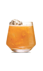 The Karamel Snap drink is made from Stoli Salted Karamel vodka, SNAP ginger liqueur and orange marmalade, and served in an old-fashioned glass.