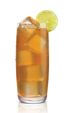 The Karamel Tea drink is made from Stoli Salted Karamel vodka, peach tea and fresh lemon juice, and served over ice in a highball glass.