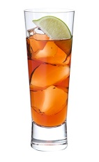 The Killer Punch drink is made from Midori melon liqueur, vodka, amaretto, orange juice and cranberry juice, and served over ice in a collins glass, or double the measurements and serve in a highball glass.