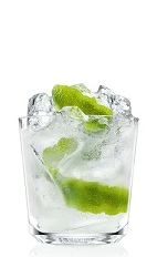 The Kingston Buck is a light and fruity cocktail that brings back the feeling of Spring any time of the year. A clear cocktail made from Absolut Hibiskus vodka, ginger beer and lime juice, and served over ice in a rocks glass.