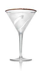 The Kokonut Martini is made from Stoli Chocolat Kokonut vodka and coconut water, and served in a chocolat-rimmed cocktail glass.