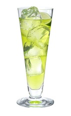 The LA Iced tea is a modern variation of the classic Long Island Iced Tea drink. Made from Midori melon liqueur, vodka, gin, rum, triple sec, simple syrup and lime juice, and served over ice in a highball glass.