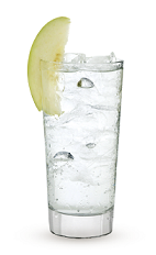 The Light and Tonic is a clear drink made from Cruzan light rum, tonic water, lime juice and an apple slice, and served over ice in a highball glass.
