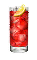 The Lime Codder is a red drink made from Smirnoff lime vodka, lemon and cranberry juice, and served over ice in a highball glass.