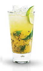 The Lime Passion is an excellent tropical cocktail to beat the summer heat, or to warm up any cocktail party. Made from Finlandia lime vodka, passion fruit, lime, passion fruit syrup and club soda, and served over ice in a highball glass.