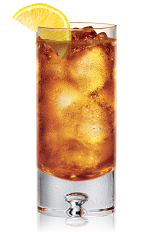 The Limon and Iced Tea is a brown drink made from Bacardi Limon rum, lemon and iced tea, and served over ice in a highball glass.