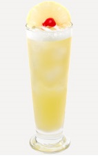 The Mango Breeze is a refreshingly cool wind on a hot summer day. A yellow colored drink recipe made from Burnett's mango vodka, coconut rum, pineapple juice and white cranberry juice, and served over ice in a Collins or highball glass.