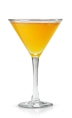 The Maple Punch is an orange colored cocktail perfect for fall cocktail parties. Made form New Amsterdam gin, orange juice, maple syrup and cinnamon, and served in a chilled cocktail glass.