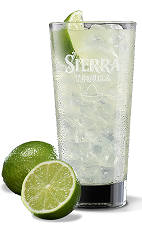 The Sierra Supreme Margarita is an easy to make margarita made form Sierra Supreme Margarita mix, crushed ice and lime, and served in a highball glass.