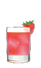 The Marilyn Blush is a sexy red colored cocktail perfect for a night out with your girlfriends. Made from Three Olives Marilyn Monroe strawberry vodka, grenadine and club soda, and served over ice in a rocks glass.