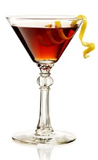 The Martinez is a close relative to the classic Martini cocktail. A red cocktail made from Beefeater gin, sweet vermouth, maraschino liqueur and bitters, and served in a chilled cocktail glass.