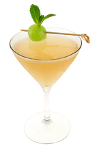 The Melon Lime Drop is an orange colored cocktail made from Smirnoff melon vodka, lemonade, lime juice and simple syrup, and served in a chilled cocktail glass.