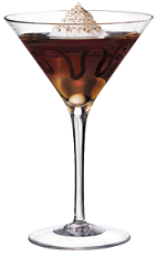 The Midnight Mocha cocktail recipe will satisfy your late night craving for something chocolaty. A brown colored drink made from Kamora coffee liqueur, crème de cacao and vodka, and served in a chilled cocktail glass garnished with chocolate syrup, whipped cream and cinnamon.