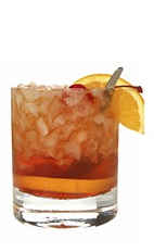The Midnight Summer drink recipe is made from Boca Loca cachaca, Kahlua coffee liqueur, lemon juice and agave nectar, and served over ice in a rocks glass.