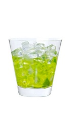The Midori Caipirinha is a variation on the classic Brazilian drink. Made from Midori melon liqueur, cachaca (Brazilian rum) and lime, and served over ice in a rocks glass.