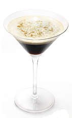 The Moli Caffe is a great breakfast drink or a dessert cocktail. A brown cocktail made form Molinari sambuca, espresso, heavy cream and sugar, and served in a chilled cocktail glass.