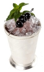 The Morlacco Julep is an Italian variation of the classic Mint Julep cocktail recipe. Made from brandy, Luxardo cherry brandy, mint and amaretto, and served over crushed ice in a rocks glass.