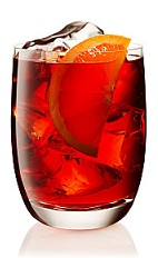 The Negroni is a classic red drink made from Beefeater gin, Campari and sweet vermouth, and served over ice in a rocks glass.