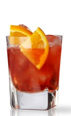 The Negroni is one of the most famous Italian cocktails of all time, recently featured by Anthony Bourdain during his travels to Italy. This variation is made from Martin Miller's gin, sweet red vermouth and Campari, and served over ice in a rocks glass.