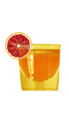 The Negroni is a classic Italian cocktail made from pure Italian ingredients. This variation is an orange colored drink made from Orangecello, gin, Campari and sweet vermouth, and served over ice in a rocks glass.