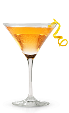 The New Vesper Martini is a modern variation of the classic Vesper Martini. Made from New Amsterdam gin, New Amsterdam vodka, Aperol and bitters, and served in a chilled cocktail glass.