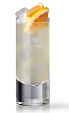 The North Sea Breeze combines the tropical flavors of the Caribbean with the temperate flavors of Northern Europe. Made from Martin Miller's gin, pink grapefruit juice, lychee juice and lime marmalade, and served over ice in a highball glass.