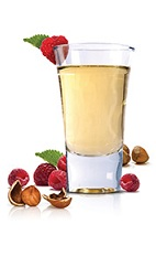 The Nuts and Berries Shot is a party shot made from Frangelico hazelnut liqueur and raspberry vodka, and served in a chilled shot glass.