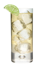 The Nuts in the Water is made from Smirnoff coconut vodka, Disaronno amaretto liqueur, ginger ale and lime, and served over ice in a highball glass.